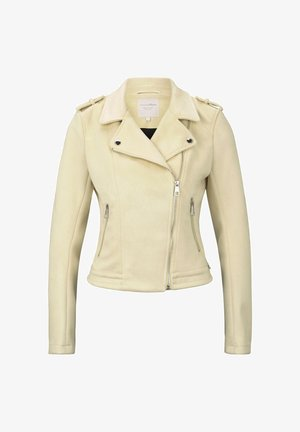 Faux leather jacket - pale yellow