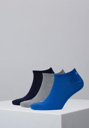 SNEAKER 3 PACK UNISEX  - Trainer socks - blue / grey melange