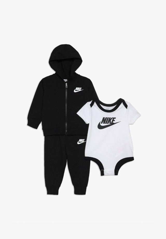 SOLID FUTURA PANT SET BABY - Hoodie met rits - black