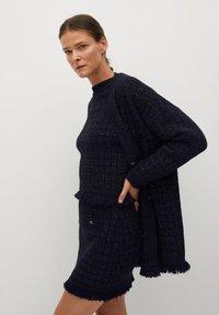 Mango - CHABELI - Mini skirt - dunkles marineblau - 4