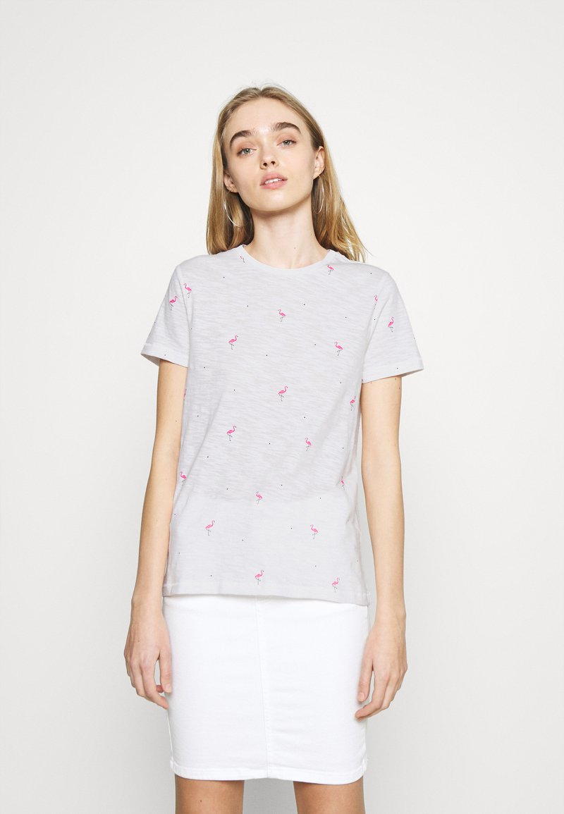 ONLY - ONLBONE LIFE TOP BOX - T-shirt imprimé - bright white
