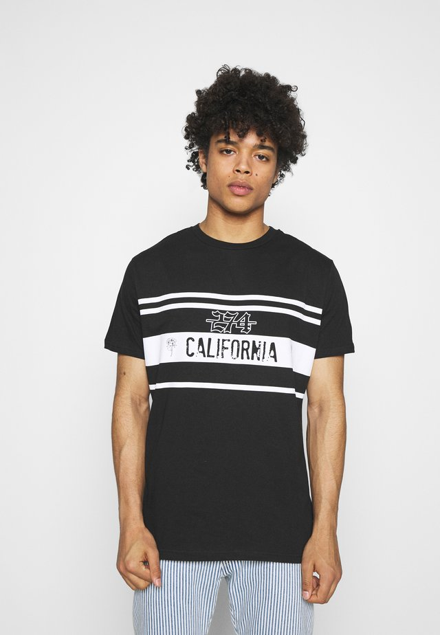 CALIFORNIA ROSE TEE - Print T-shirt - black