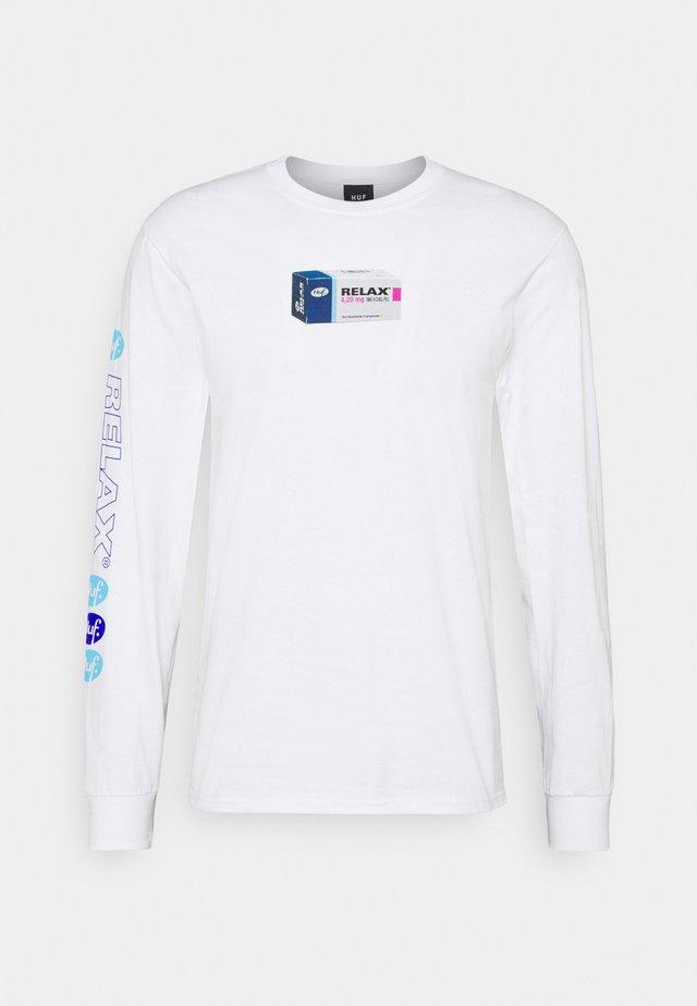RELAX TEE - Pitkähihainen paita - white