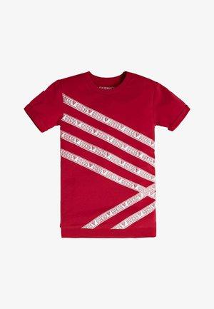 TERRY GLITTER LOGO - Print T-shirt - rot