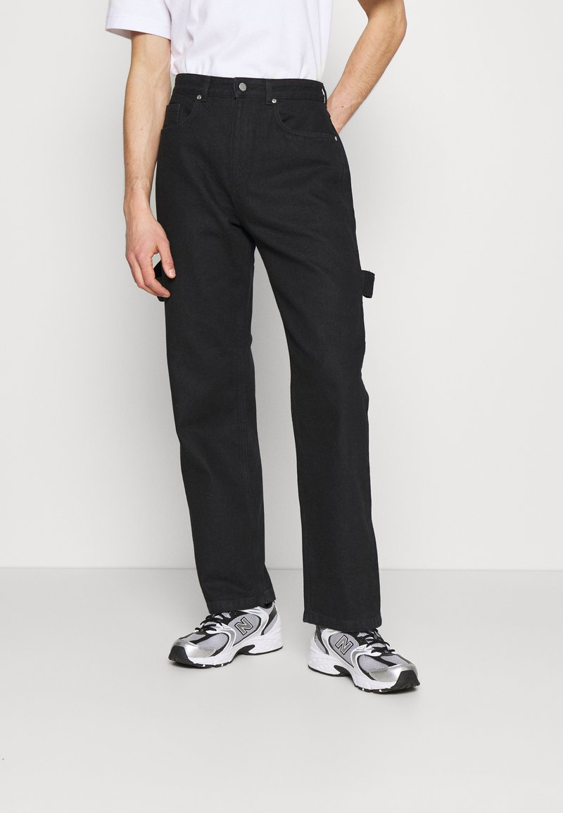 NU-IN - MARCUS BUTLER CARPENTER WIDE LEG - Straight leg jeans - black
