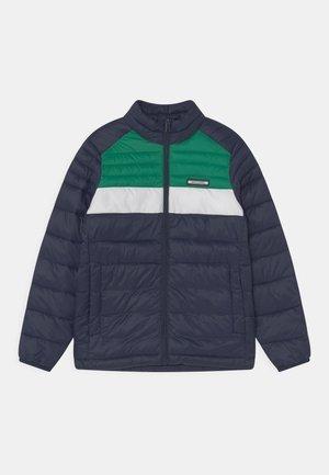 JJEACE PUFFER COLLAR JR - Winterjas - navy blazer/verdant green
