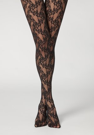 Tights - schwarz black lace