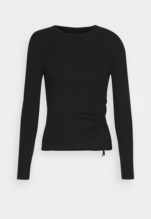Ruching detail jumper - Strikkegenser - black