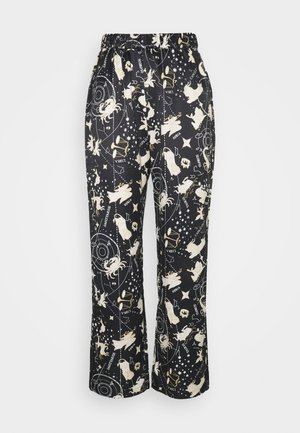 NIGHT TROUSERS WOVEN ASTRO - Pyjama bottoms - black