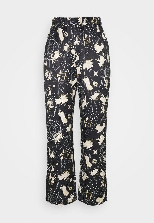 NIGHT TROUSERS WOVEN ASTRO - Pyjamabroek - black