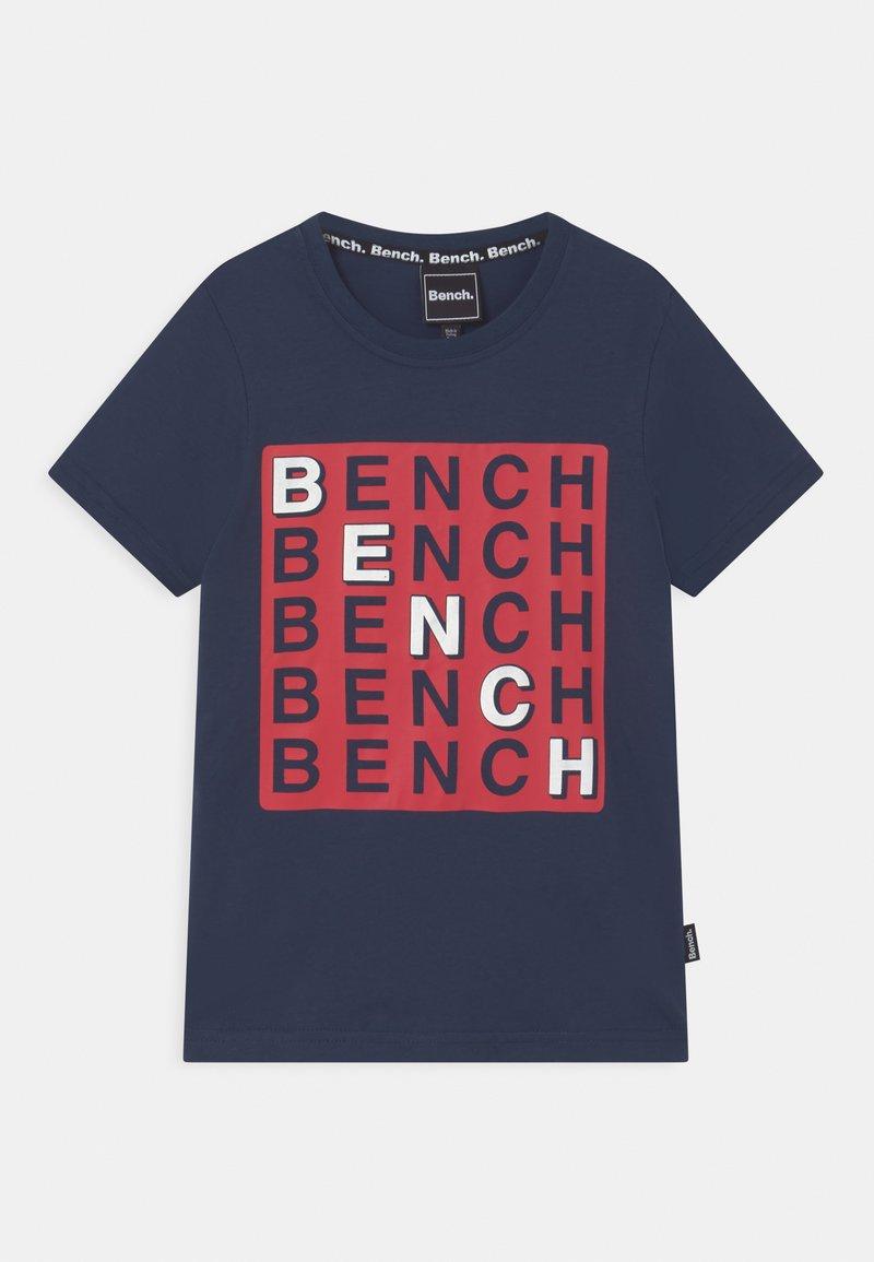 Bench - CHECK - T-shirt z nadrukiem - navy