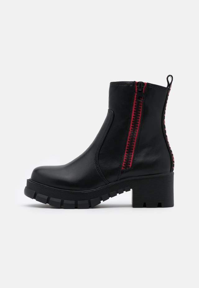 MAZIE - Platform ankle boots - black