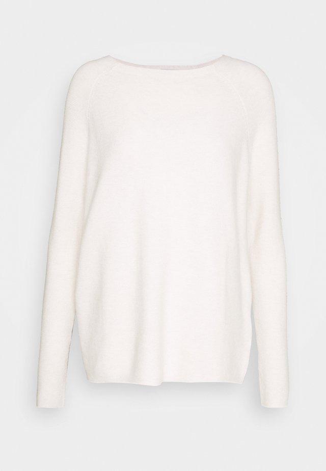GARTER - Sweter - white melange