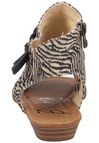 Blowfish Malibu - Ankle cuff sandals - zebra safari blanket blackdyecut - 2