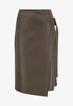 Wrap skirt - open green