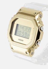 G-SHOCK - GOLD-INGOT TRANSPARENT GM-5600SG UNISEX - Digital watch - gold-coloured /transparent - 3