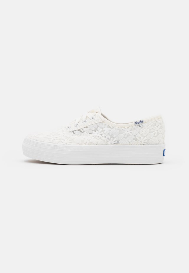 TRIPLE FLORAL - Sneakers laag - snow white