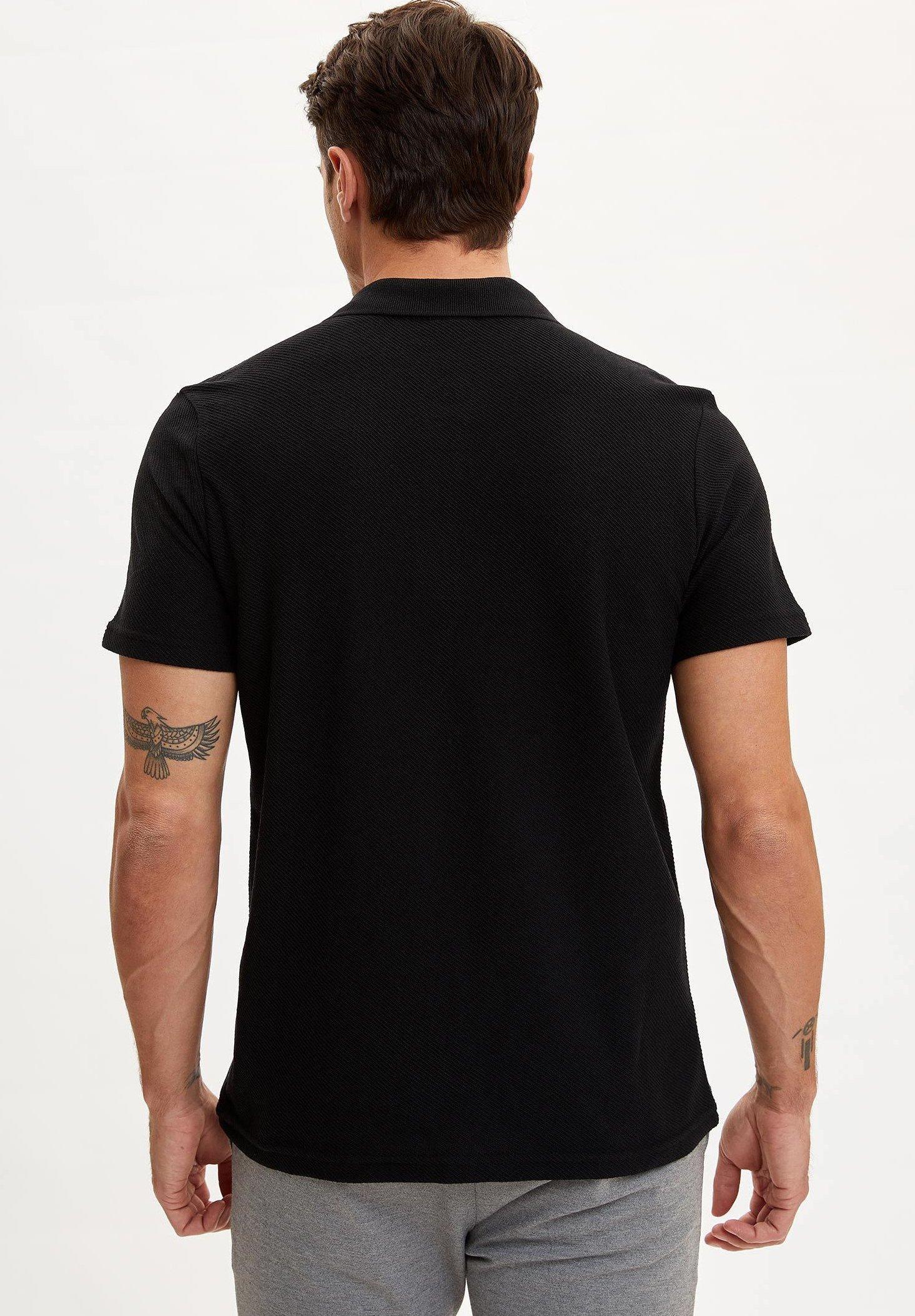 DeFacto Polo shirt - black l2L0a