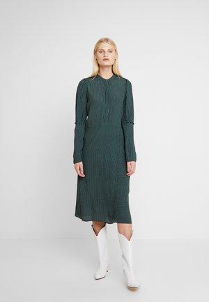 ALANA DRESS - Abito a camicia - dark green/white