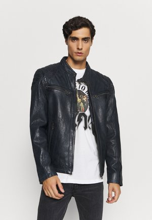 ARNY STUV - Leather jacket - navy