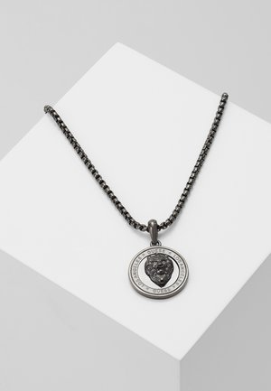 LION COIN CHARM - Necklace - gunmetal