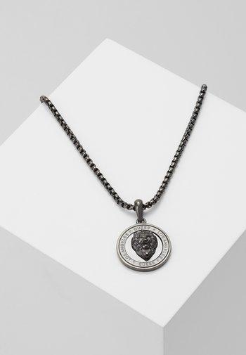 LION COIN CHARM - Necklace - gunmetal