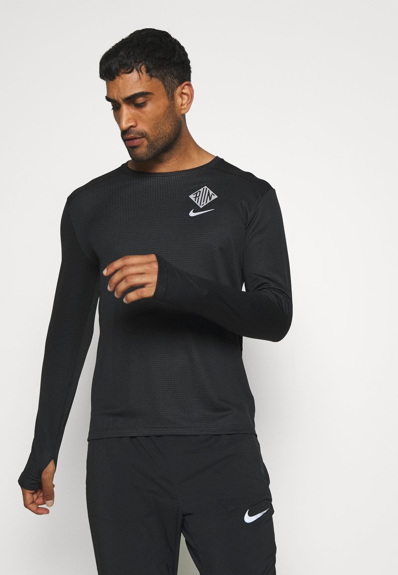 Nike Performance - PACER CREW  - Camiseta de deporte - black/particle grey/silver