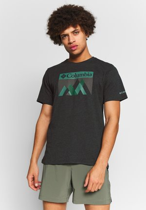ALPINE WAY™ GRAPHIC TEE - Printtipaita - black peak fun
