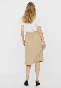 Vero Moda - Pleated skirt - beige - 2