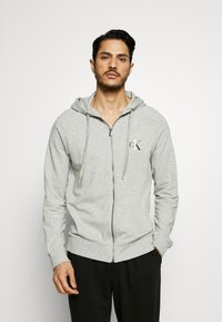 Calvin Klein Underwear - LOUNGE FULL ZIP HOODIE - Pyjamapaita - grey - 0