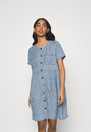 VIFLIKKA DRESS - Day dress - medium blue denim