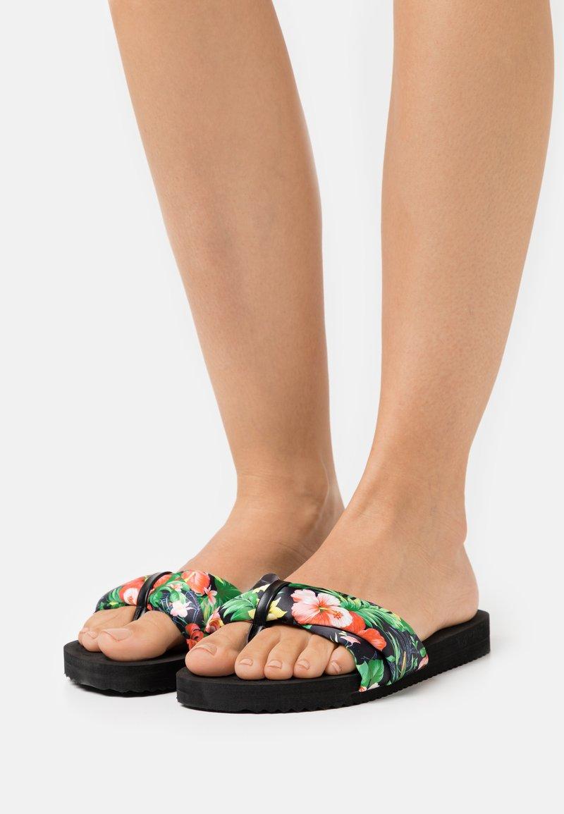 flip*flop - POOLY TROPICS - T-bar sandals - black
