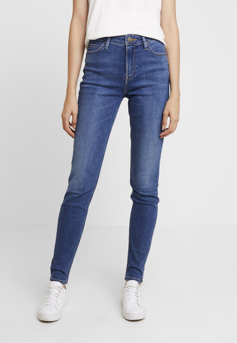 Lee - SCARLETT HIGH - Jeansy Skinny Fit - mid copan