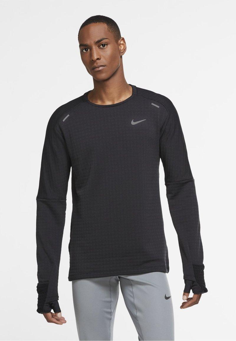 Nike Performance - SPHERE ELEMENT CREW 3.0 - Fleece jumper - black/black