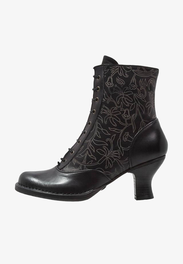 ROCOCO - Lace-up ankle boots - ebony