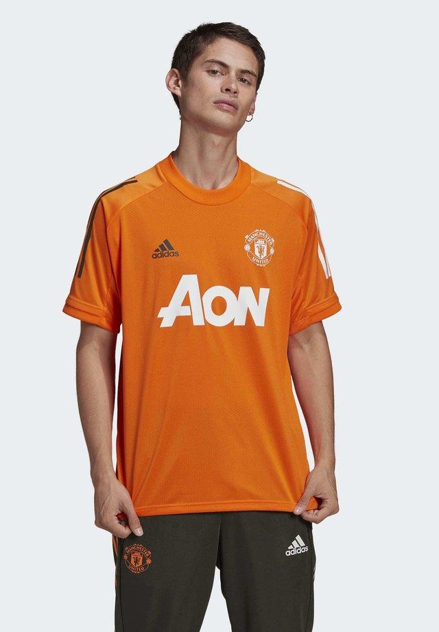MANCHESTER UNITED AEROREADY FOOTBALL JERSEY - Klubové oblečení - orange