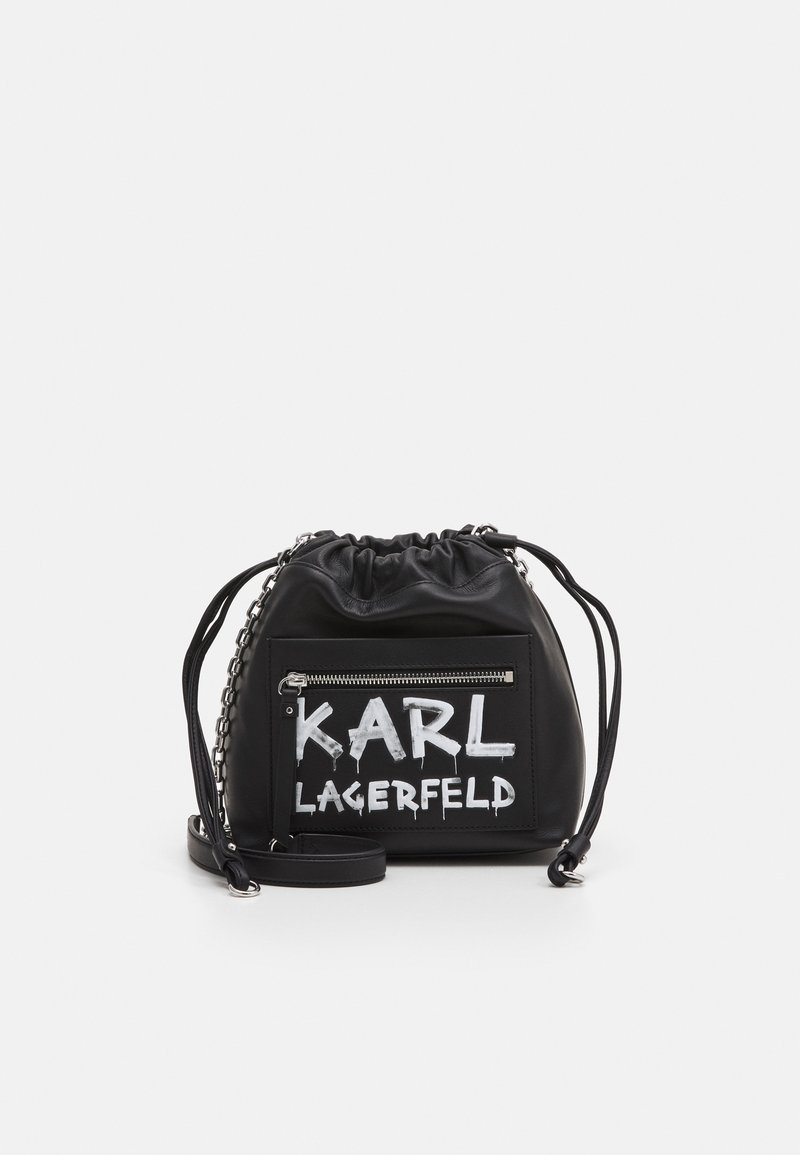 KARL LAGERFELD - SOHO GRAFFITI SMALL - Across body bag - black