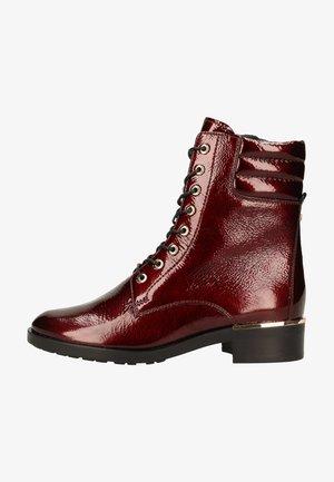 Platform ankle boots - Bordo