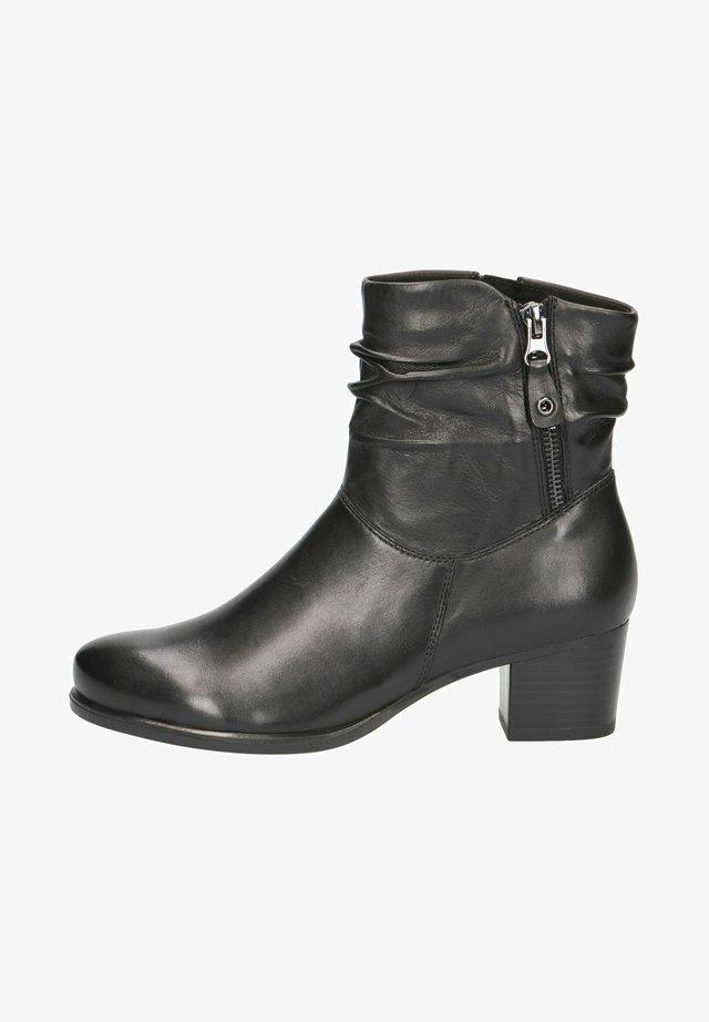 STIEFELETTE - Korte laarzen - black soft nap