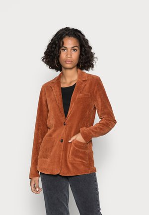 LONG FITTED - Blazer - rustic orange