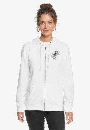 DAY BREAKS ZIPPED - Zip-up hoodie - snow white