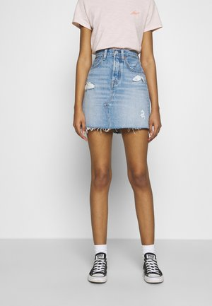 DECON ICONIC SKIRT - Spódnica trapezowa - light-blue Denim