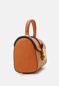 MCM - TRACY VISETOS SATCHEL SMALL - Handbag - cognac - 3