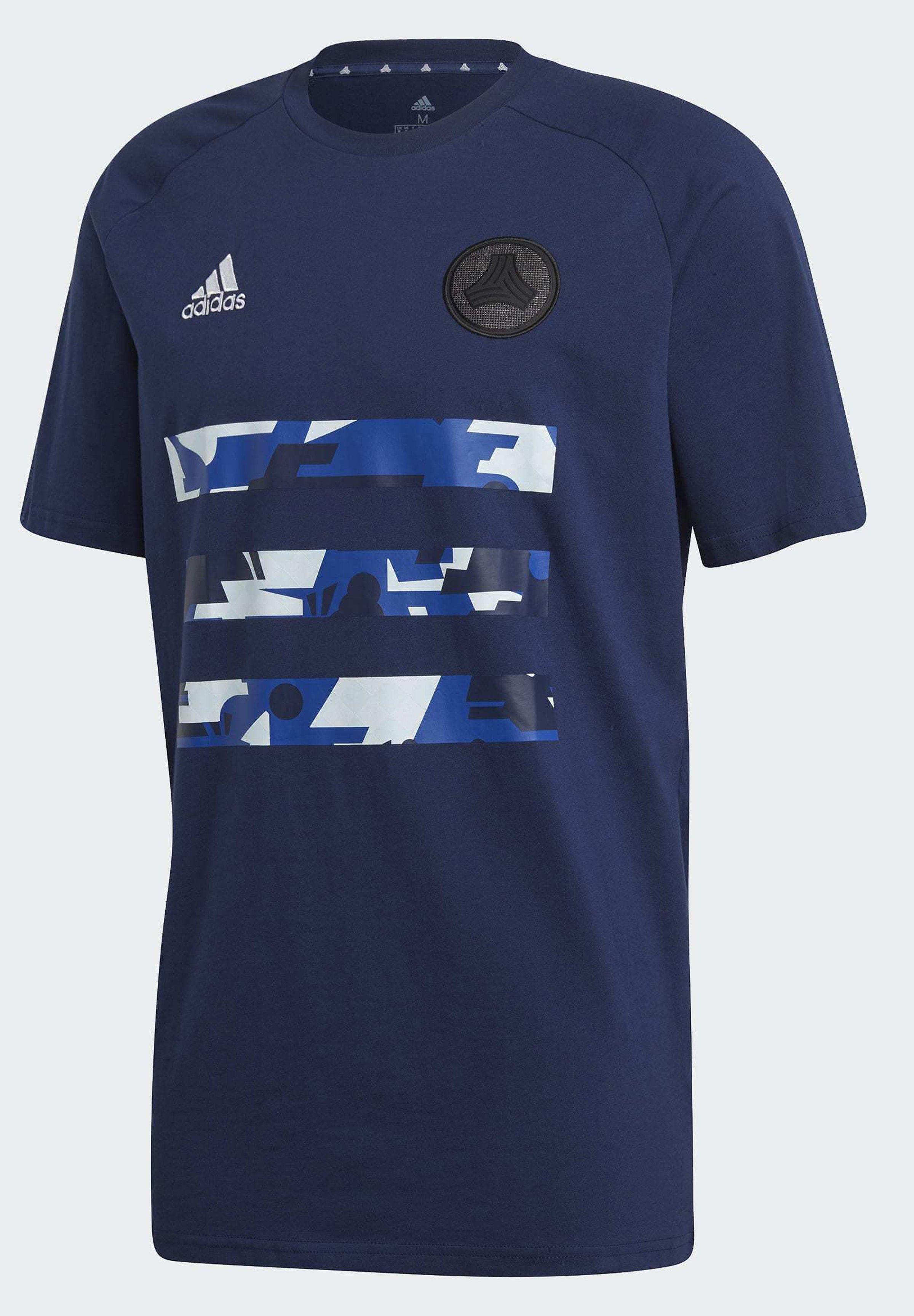 Adidas Performance Tee - T-shirts Med Print Navblu