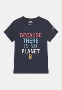 Ecoalf - BECAUSE UNISEX - Print T-shirt - midnight navy - 0