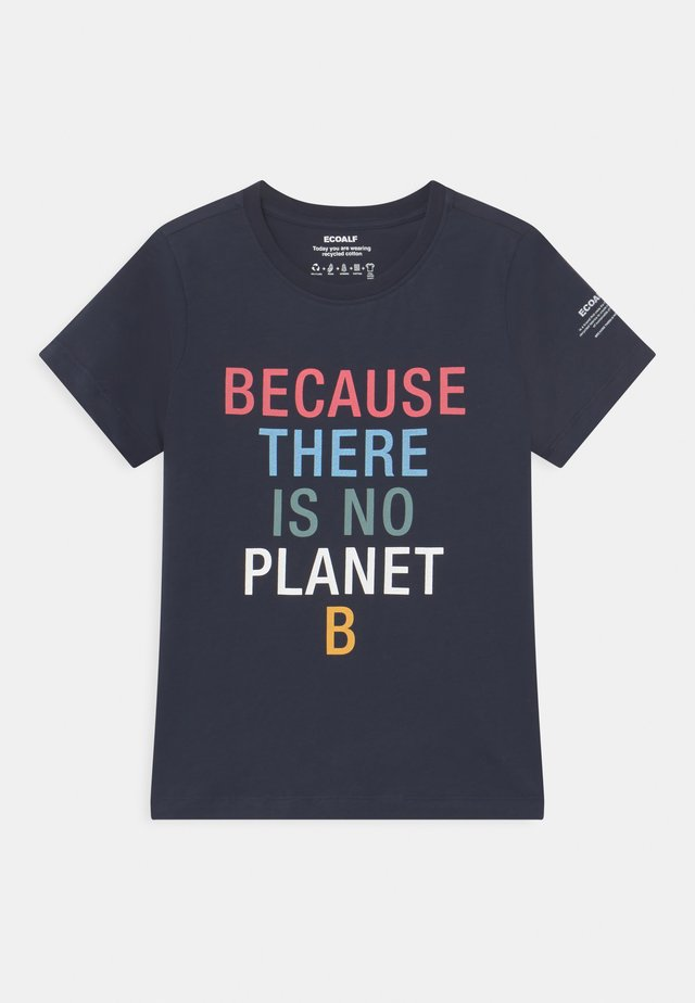 BECAUSE UNISEX - T-shirts print - midnight navy