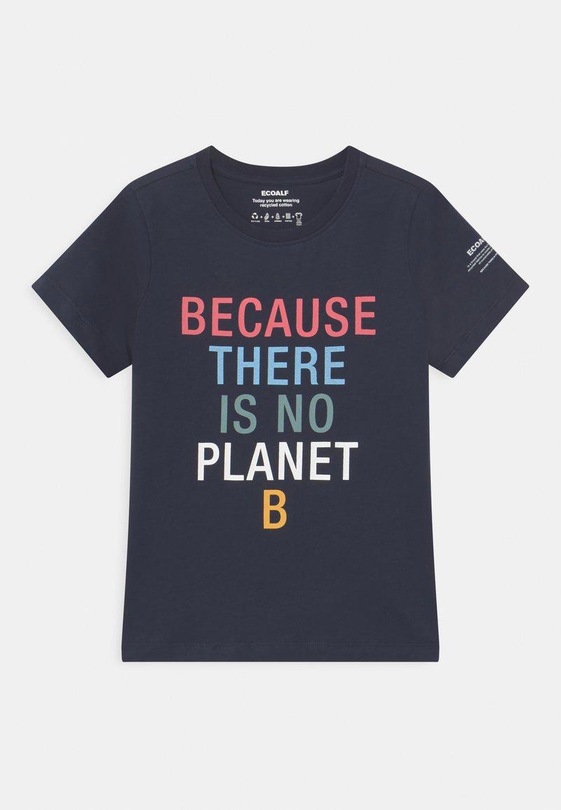 Ecoalf - BECAUSE UNISEX - Print T-shirt - midnight navy