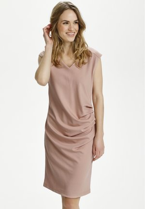 INDIA V NECK DRESS - Shift dress - misty rose