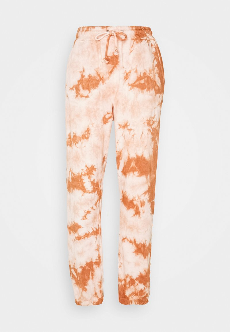 Missguided - TIE DYE JOGGERS - Tracksuit bottoms - brown