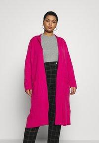 Simply Be - LONGLINE COATIGAN - Cardigan - bright pink - 0